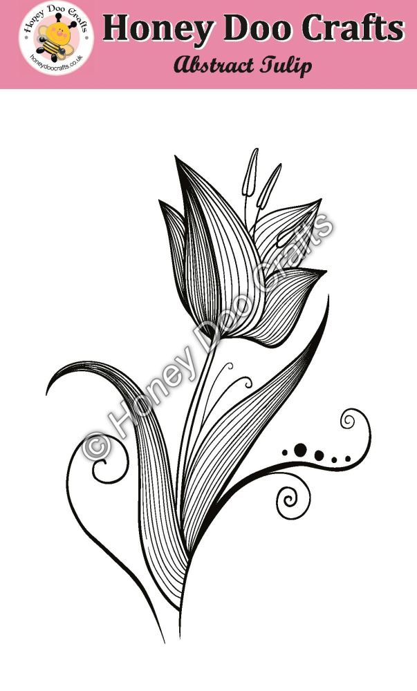 Abstract Tulip Stamp