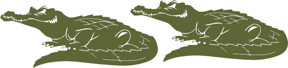 Alligators ( set of 2 )