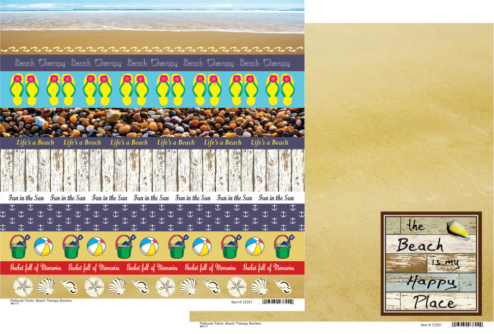 Beach Therapy Border Paper * new Double Sided
