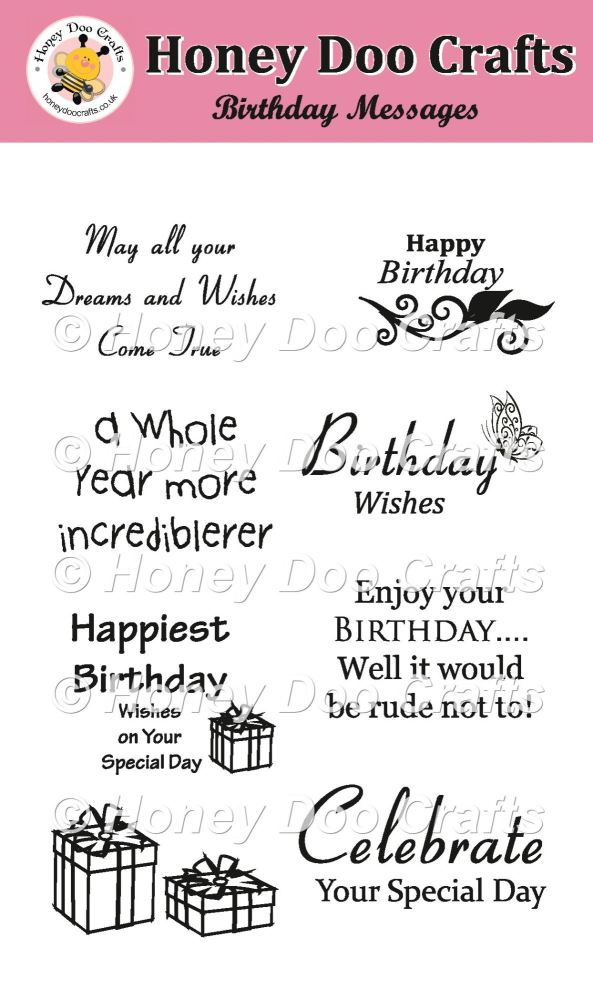 Birthday Messages Stamps