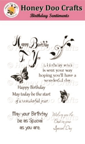 Birthday Sentiments Stamps