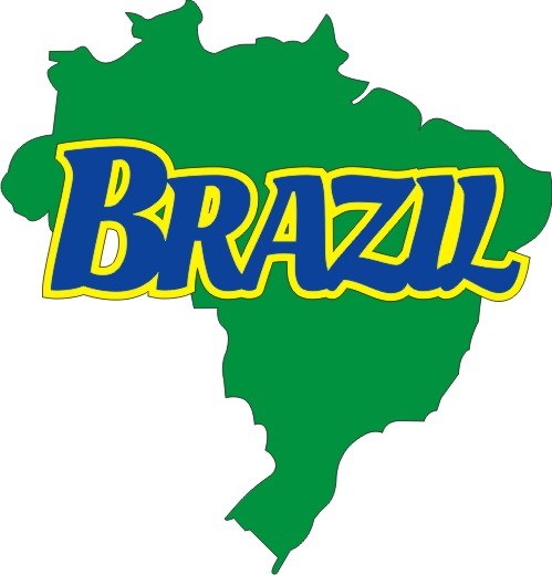 Brazil with Country shape