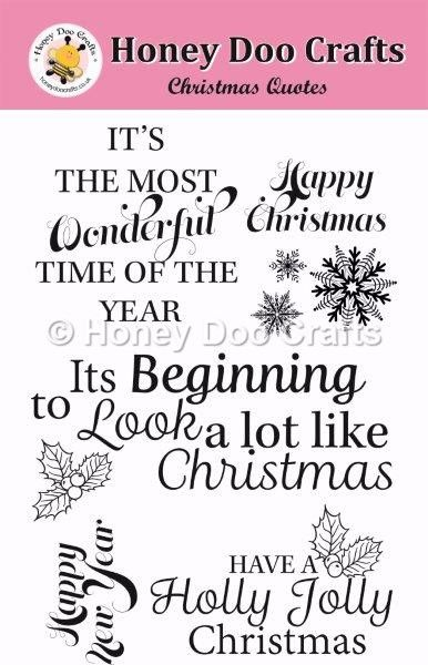 Christmas Quotes Stamp