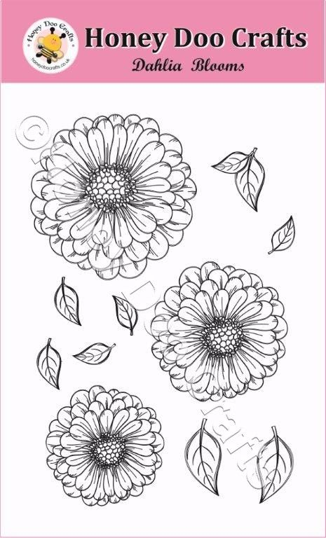 Dahlia Blooms Stamp