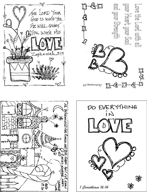 Faith & Love Set of 4 Art Cards