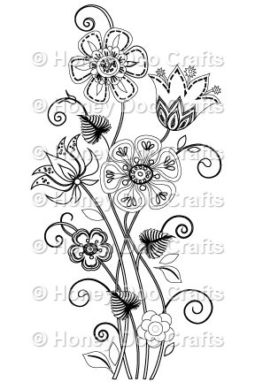 Floral Chaos Stamp