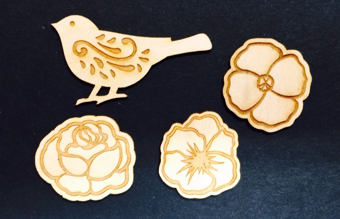 Flowers Wood Miniatures