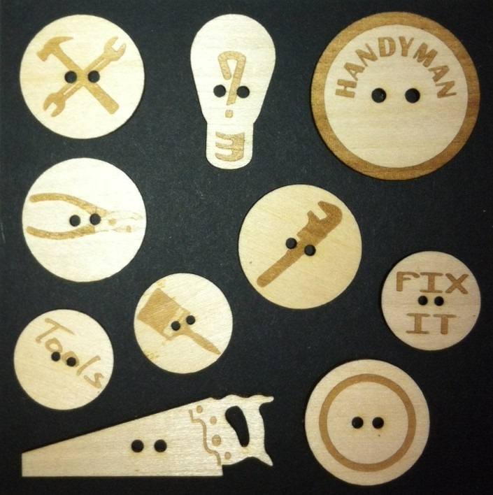 Handyman wood Buttons