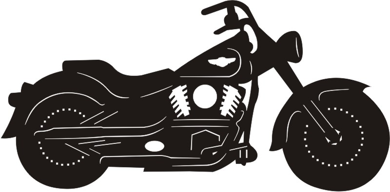 Harley Motorcycle Silhouette
