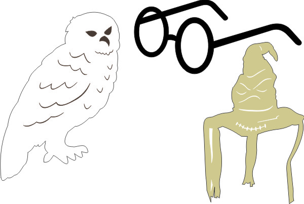 Harry Potter Set A (Owl, Glasses, Hat)