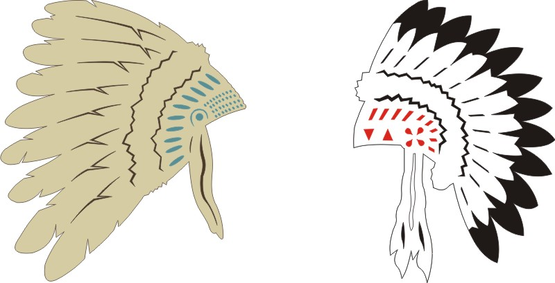 Native American Headdresses (set of 2)