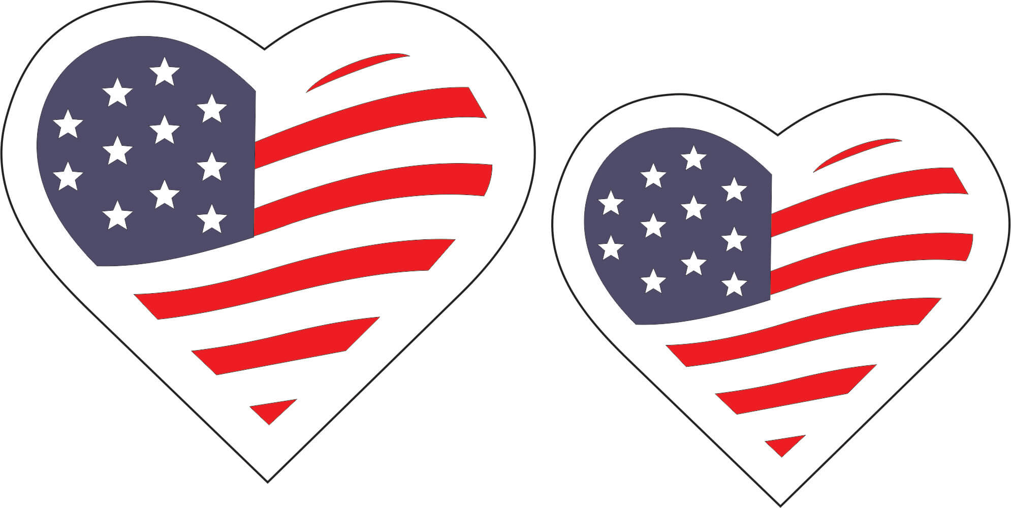 Patriotic Hearts (set of 2)