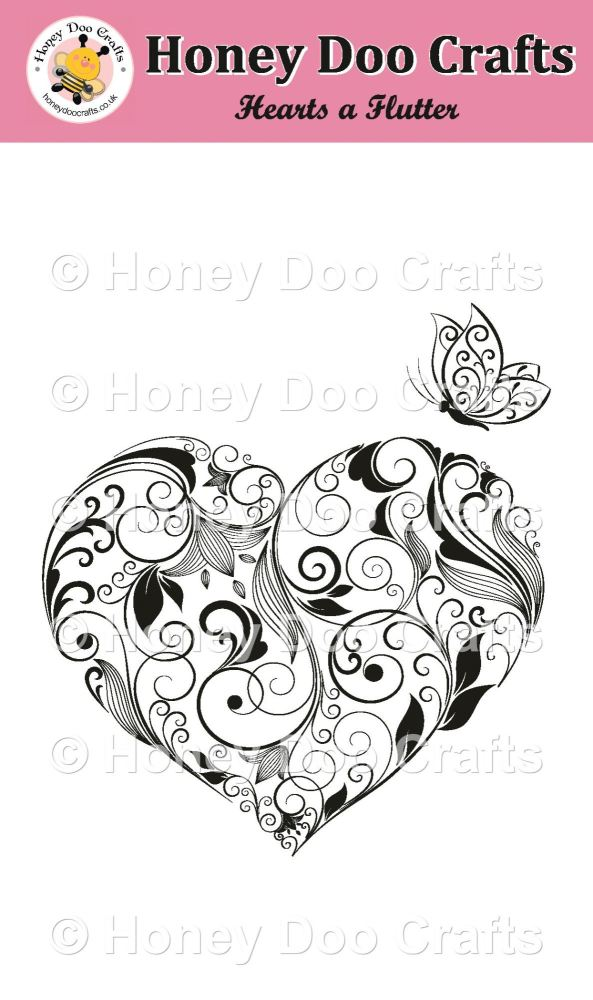 Hearts a Flutter Stamp