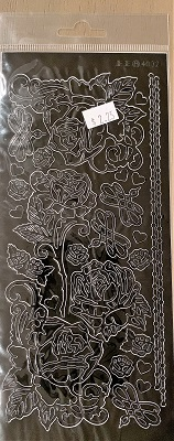 Large Roses Outline Stickers