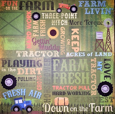 Love My Tractor Collage