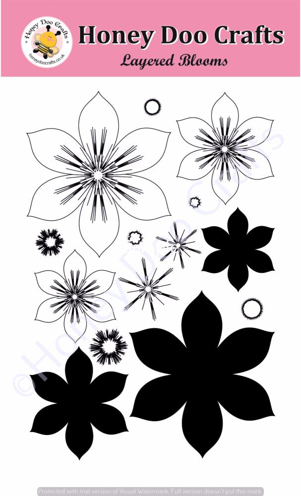 Layered Blooms Stamp