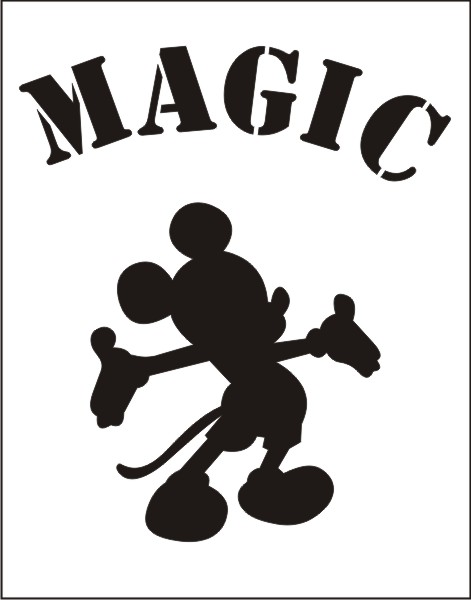 Magic Mickey Small Stencil