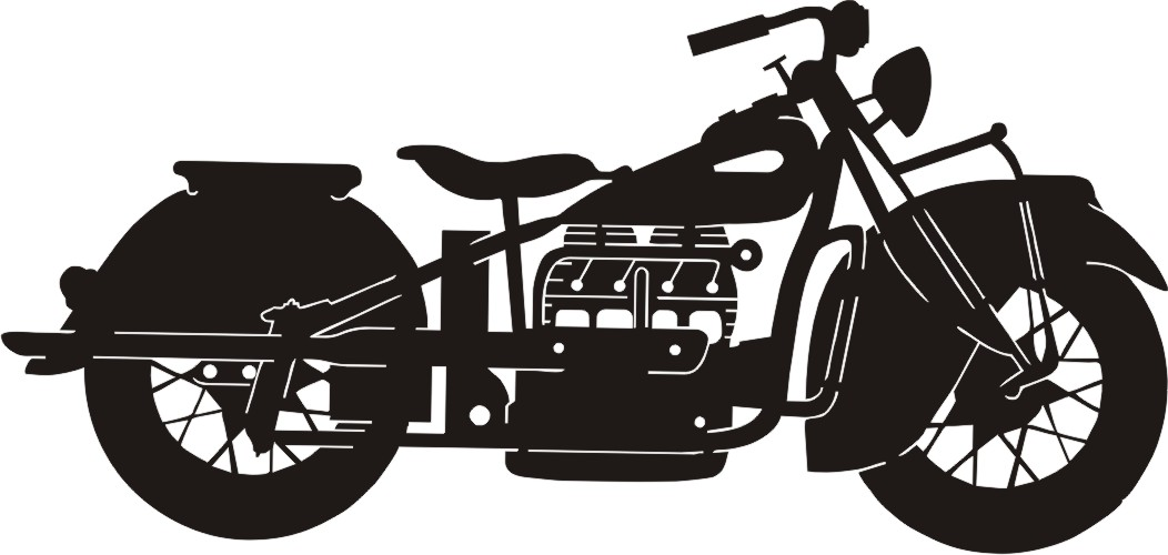 MG Motorcycle Silhouette