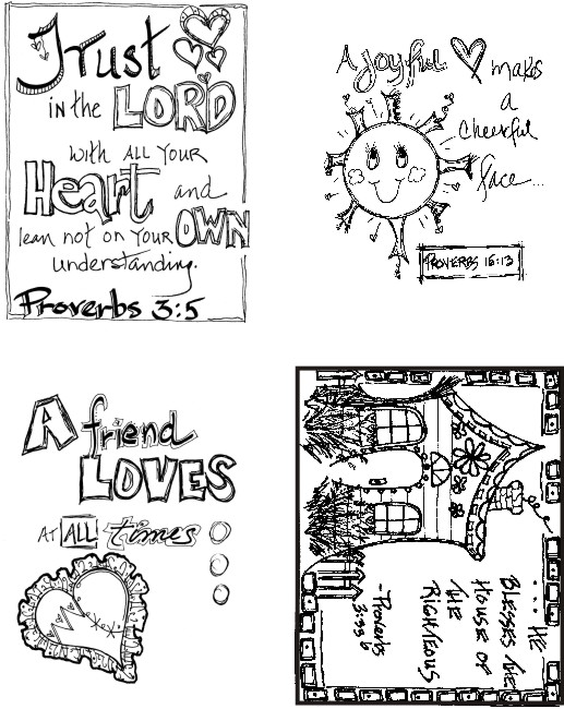 Proverbs Set of 4 Art Cards