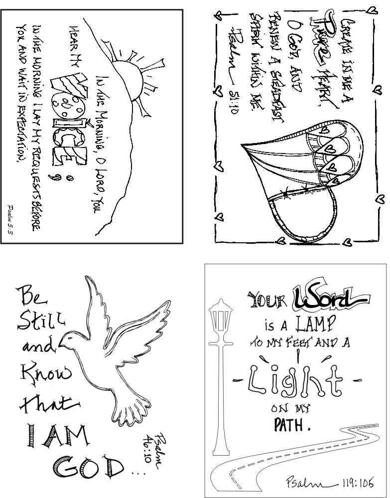 Psalms Set of 4 Art Cards