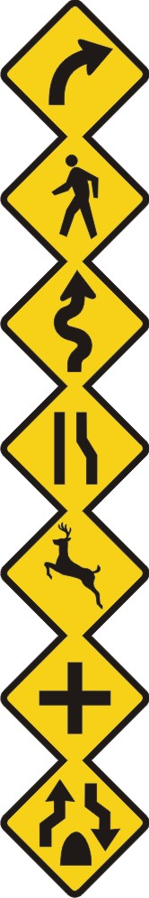 Road Sign Border - Vertical/Horizontal