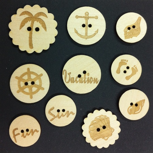 Seaside Wood Buttons