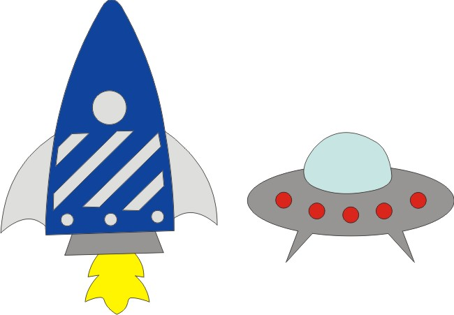 Spaceships Set B - Blue