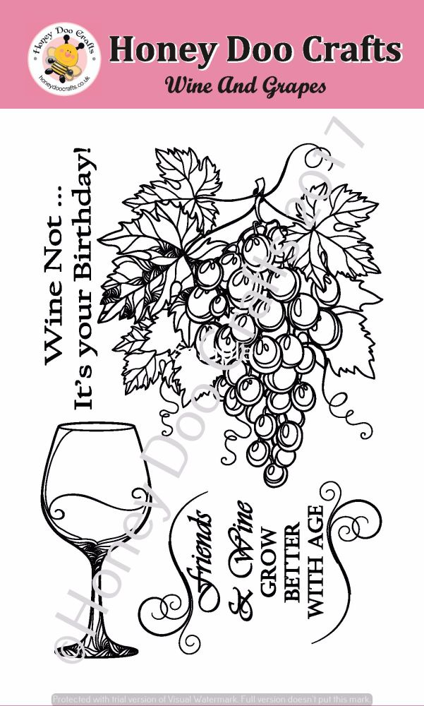 Wine and Grapes Stamp