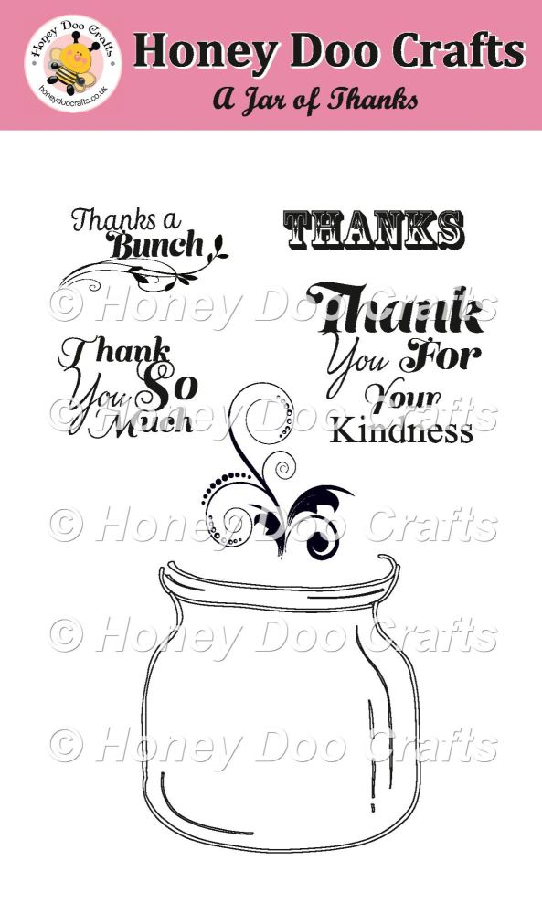 A Jar of Thanks Stamp