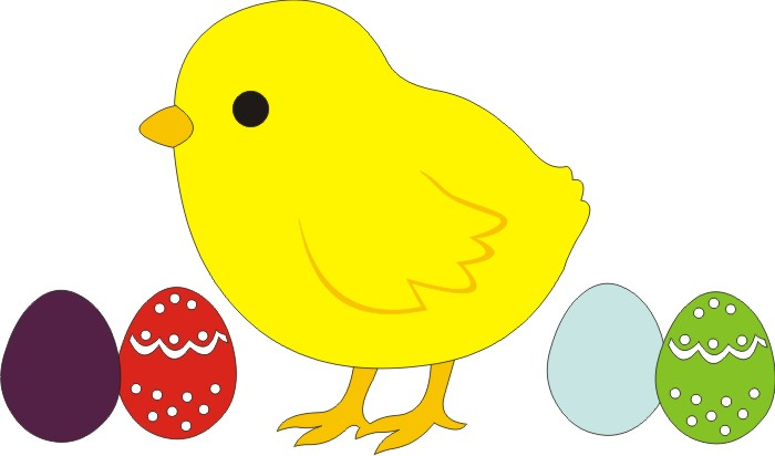 Easter Chick & Eggs