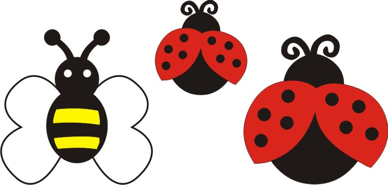 Bee & Ladybugs Set of 3