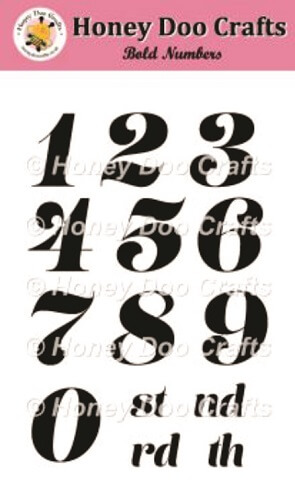 Bold Numbers Stamps