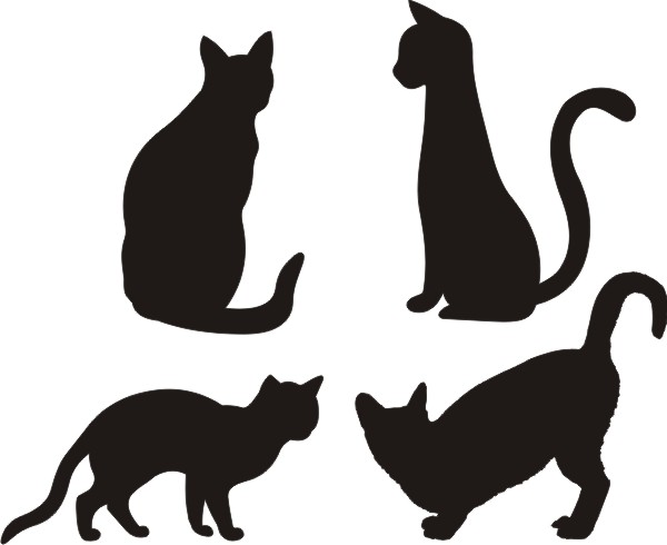 Cat Silhouettes (4)