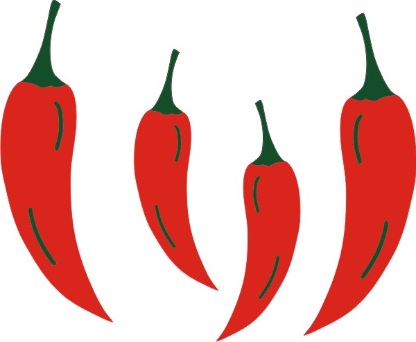 Chilli Peppers set of 4