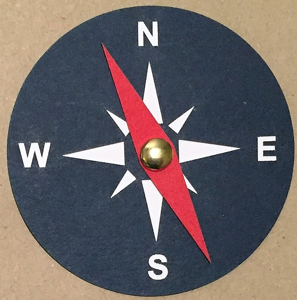 Compass with Red Dial