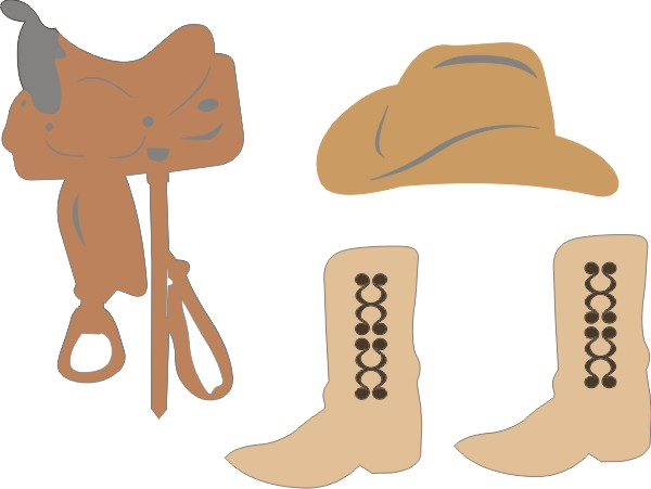Western Set (Hat, Boots & Saddle)