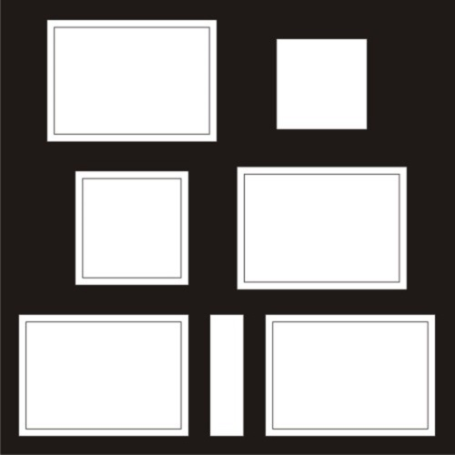 Ect Store Frame With 5 Spaces 12 X 12 Frames Borders 27 11543