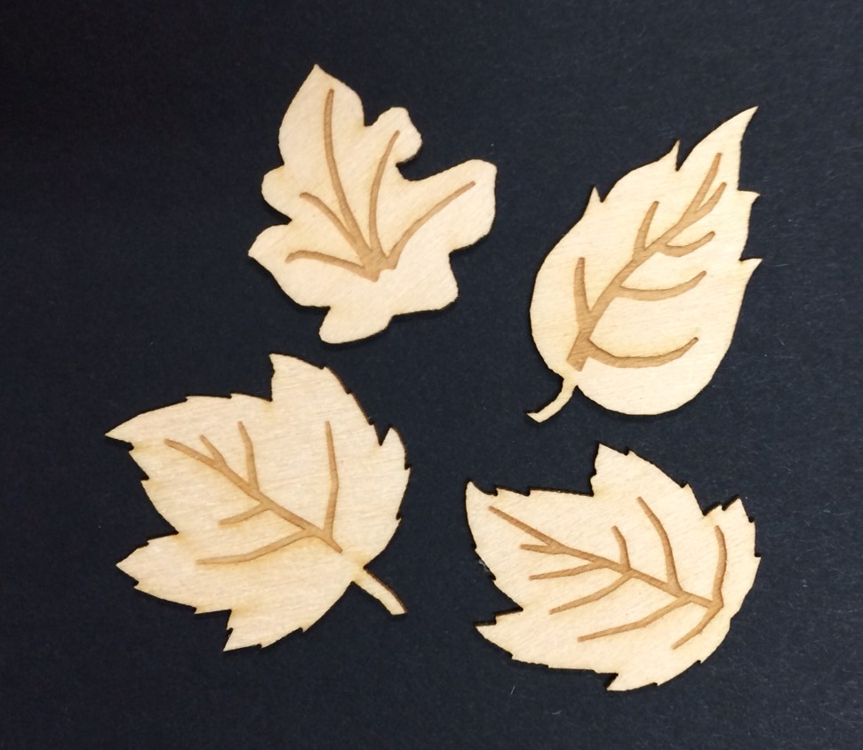 Leaves Wood Miniatures  (16)